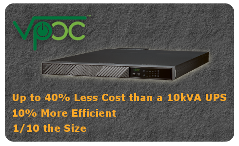 Virtual Power on Call VPOC™ Low PUE, High Density, High Efficiency